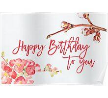 Happy birthday Cherryblossom Poster