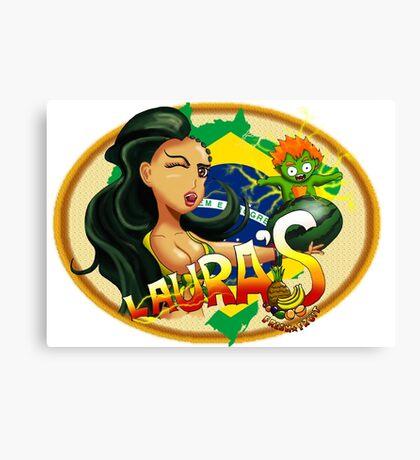 Laura's Fresh Fruit Store ( Laura Street Fighter V ) Canvas Print
