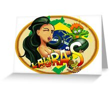 Laura's Fresh Fruit Store ( Laura Street Fighter V ) Greeting Card