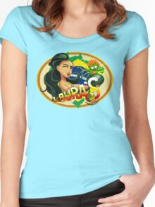 Laura's Fresh Fruit Store ( Laura Street Fighter V ) Women's Fitted Scoop T-Shirt