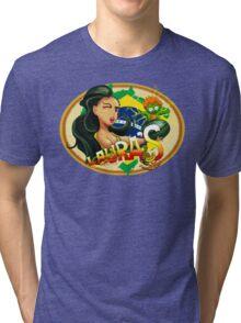 Laura's Fresh Fruit Store ( Laura Street Fighter V ) Tri-blend T-Shirt
