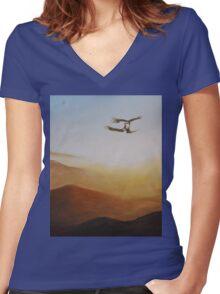 Talon Lock Women's Fitted V-Neck T-Shirt