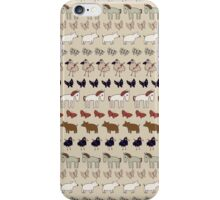 Striped Pigs and Ponies - Clay iPhone Case/Skin