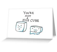mean cube Greeting Card