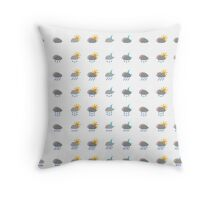 Cloudy Weather Icons   Throw Pillow