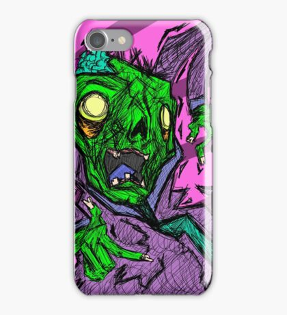 Colorful Sketchy Zombie Design iPhone Case/Skin