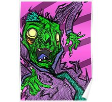 Colorful Sketchy Zombie Design Poster