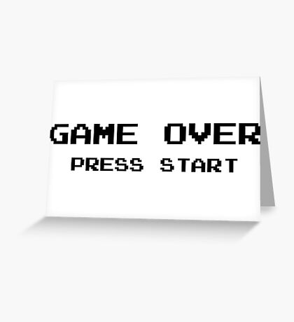Game Over Pc Vintage Ninetendo Greeting Card