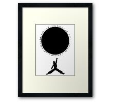 Goku Jumpman Framed Print