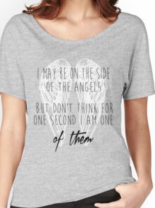 Side of the Angels (WHITE) Women's Relaxed Fit T-Shirt