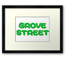 GTA San Andreas Game PC XBOX Playstation Grove Street Quotes CJ Framed Print