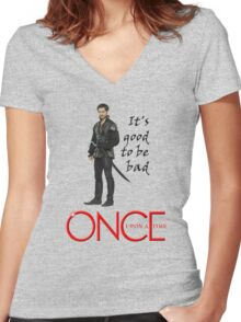 OUAT, once upon a time, OUAT hook, hook, good to be bad Women's Fitted V-Neck T-Shirt