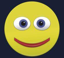 Smiley With Big Blue Eyes Kids Tee