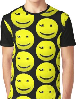 Smiley Happy Text Character Graphic T-Shirt