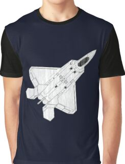 F 22 Stealth Fighter Jet Graphic T-Shirt