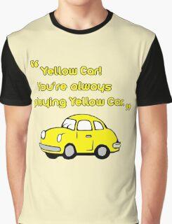 Yellow Car Graphic T-Shirt