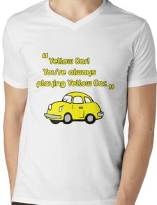 Yellow Car Mens V-Neck T-Shirt