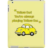 Yellow Car iPad Case/Skin