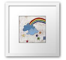 The stars and the rainbow Framed Print
