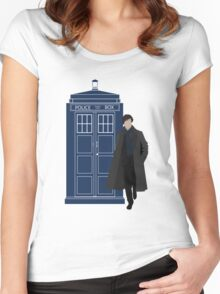 Dr. Who / Sherlock Women's Fitted Scoop T-Shirt