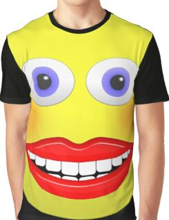 Smiley Female With Big Smiling Mouth Graphic T-Shirt