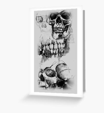 Long Skull Design - Black and White Greeting Card