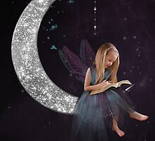 Fairy on the moon by Lyn Evans