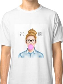 """Geek Girl "" Blonde version  Classic T-Shirt"