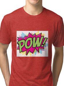 POW comic bubble Tri-blend T-Shirt