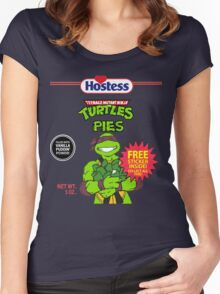 Teenage Mutant Puddin' Pies Women's Fitted Scoop T-Shirt