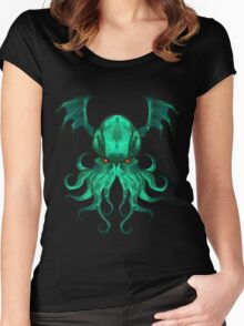Cthulhu Vector Women's Fitted Scoop T-Shirt