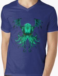 Cthulhu Vector Mens V-Neck T-Shirt