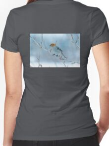 Pine Grosbeak Women's Fitted V-Neck T-Shirt