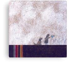Little Blue Bird Canvas Print