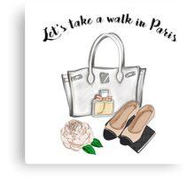 """Let's take a walk in Paris"" Canvas Print"