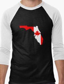 Canada flag Florida outline Men's Baseball ¾ T-Shirt