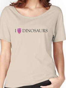 I [Columba] heart dinosaurs Women's Relaxed Fit T-Shirt