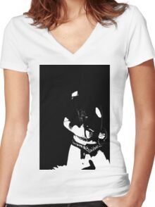 Oh, The Contrast Women's Fitted V-Neck T-Shirt