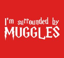 I'm Surrounded by Muggles (White) One Piece - Long Sleeve