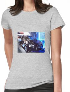 Subaru sliced Womens Fitted T-Shirt