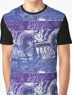 Blue Fish Abstract  Graphic T-Shirt