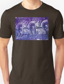 Blue Fish Abstract by Heather Holland T-Shirt