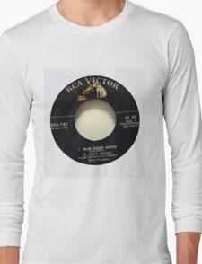 Elvis Presley  EP label Blue Suede Shoes Rockabilly Long Sleeve T-Shirt
