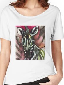 Zebra baby pink Women's Relaxed Fit T-Shirt
