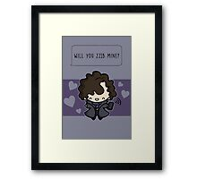 Will you 221B mine?  Framed Print