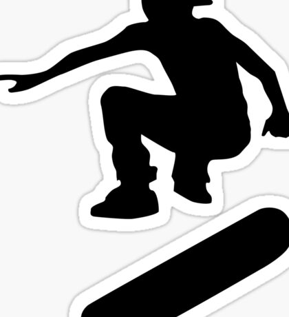 skateboard : silhouettes (LARGE) Sticker