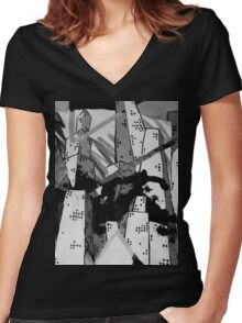 This City Women's Fitted V-Neck T-Shirt