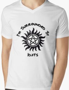 I'm Surrounded By Idjits Mens V-Neck T-Shirt