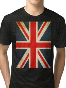 Vintage Union Jack British Flag Tri-blend T-Shirt