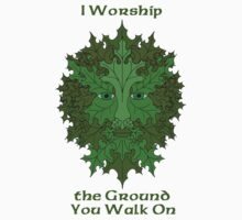 Greenman Worship Tee by ingridthecrafty